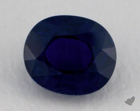 <b>1.08</b> carat Round Natural Blue Sapphire