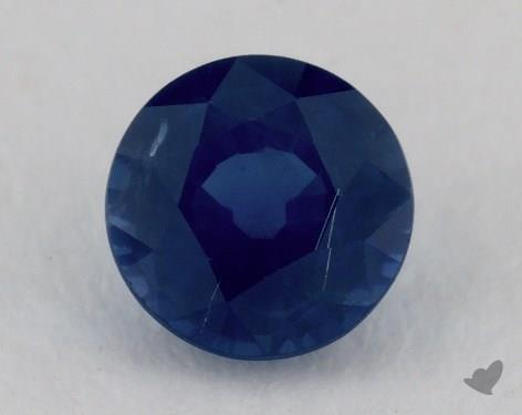 <b>1.13</b> carat Round Natural Blue Sapphire