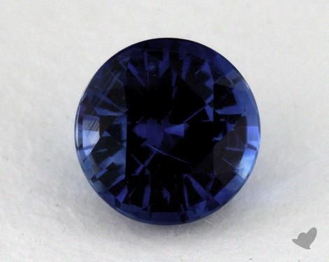 <b>1.31</b> carat Round Natural Blue Sapphire
