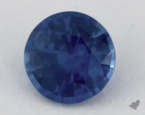 <b>1.67</b> carat Round Natural Blue Sapphire