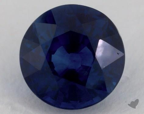 <b>3.21</b> carat Round Natural Blue Sapphire