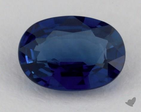 <b>0.87</b> carat Oval Natural Blue Sapphire