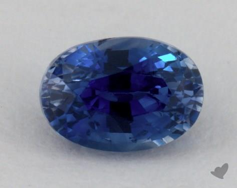 <b>0.96</b> carat Oval Natural Blue Sapphire
