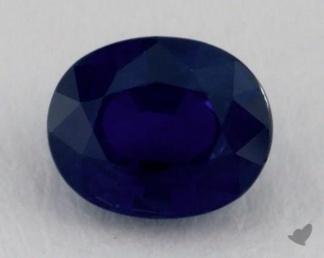 <b>1.06</b> carat Oval Natural Blue Sapphire