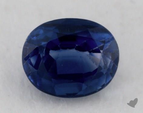 <b>1.11</b> carat Oval Natural Blue Sapphire