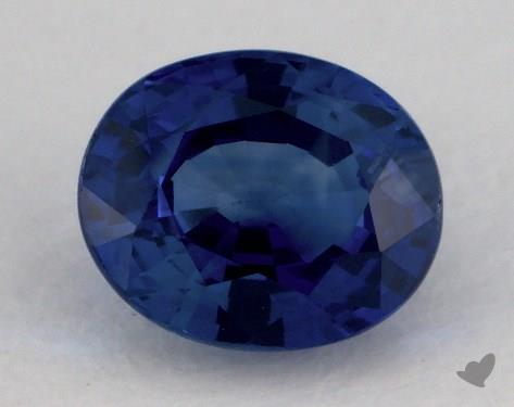 <b>1.44</b> carat Oval Natural Blue Sapphire