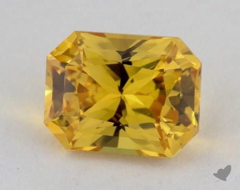 <b>3.44</b> carat Radiant Natural Yellow Sapphire