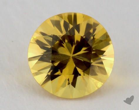 <b>1.18</b> carat Round Natural Yellow Sapphire