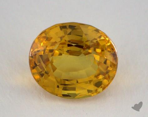 <b>5.10</b> carat Oval Natural Yellow Sapphire