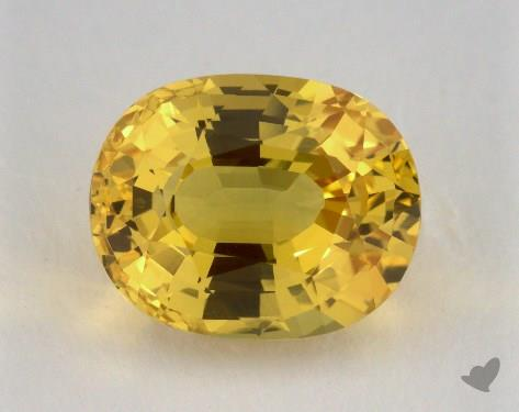 <b>5.37</b> carat Oval Natural Yellow Sapphire