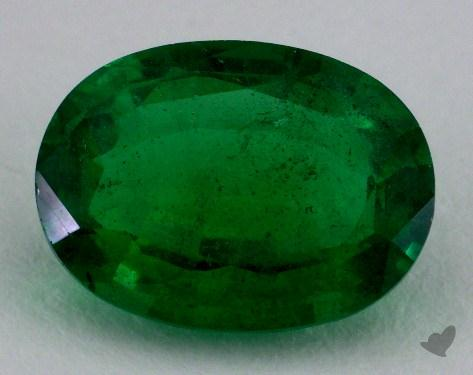 <b>2.54</b> carat Oval Natural Green Emerald