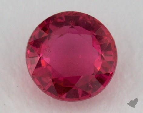 <b>0.86</b> carat Round Natural Ruby