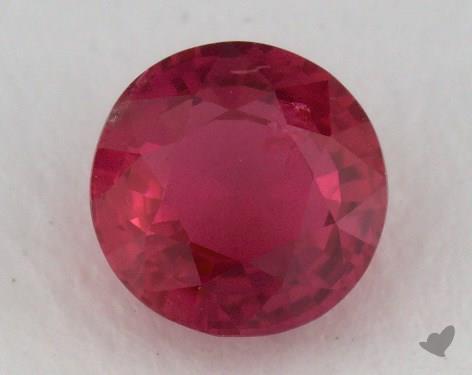 <b>1.00</b> carat Round Natural Ruby