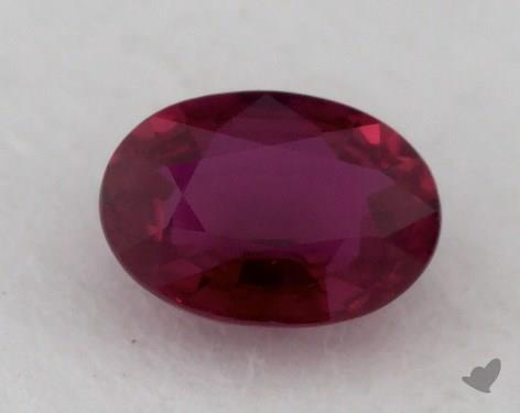 <b>1.02</b> carat Oval Natural Ruby