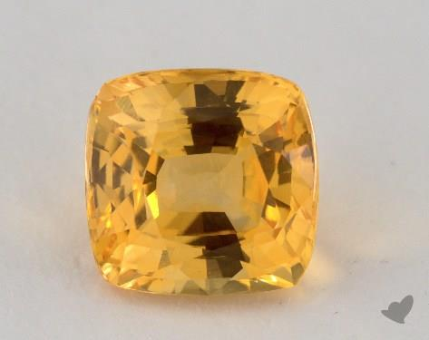 <b>3.87</b> carat Cushion Natural Yellow Sapphire