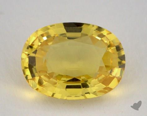 <b>5.75</b> carat Oval Natural Yellow Sapphire