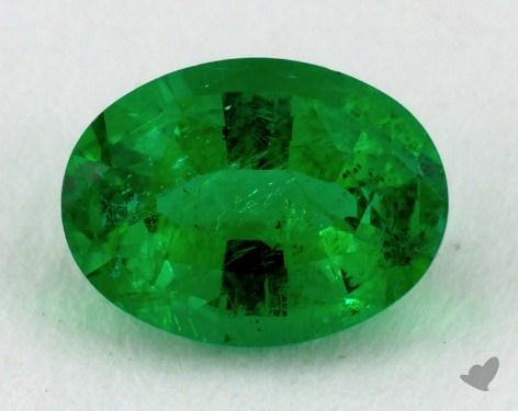 <b>0.79</b> carat Oval Natural Green Emerald