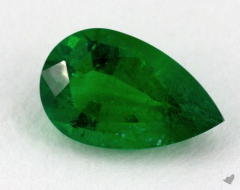 <b>1.02</b> carat Pear Natural Green Emerald