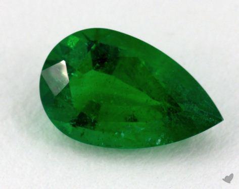 <b>1.02</b> carat Pear Natural Green Emerald