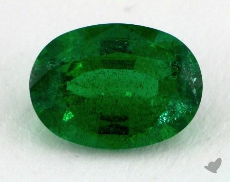 <b>1.22</b> carat Oval Natural Green Emerald