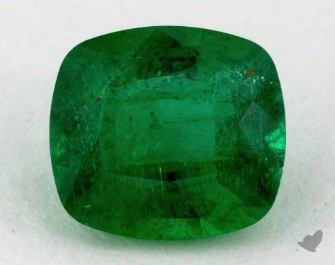 <b>1.80</b> carat Cushion Natural Green Emerald