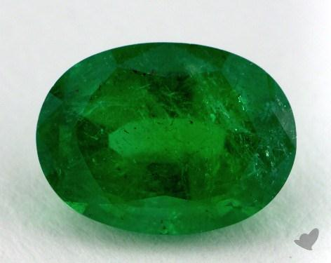 <b>2.40</b> carat Oval Natural Green Emerald