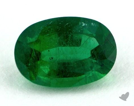 <b>1.54</b> carat Oval Natural Emerald