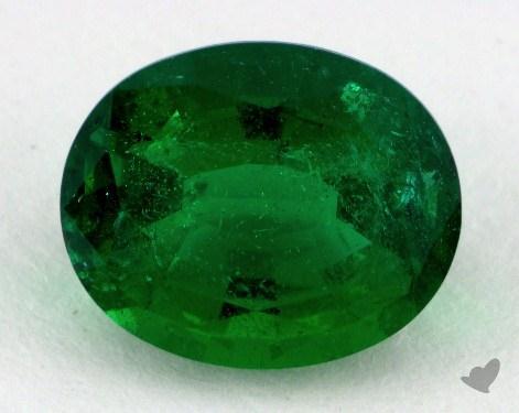 <b>2.08</b> carat Oval Natural Green Emerald