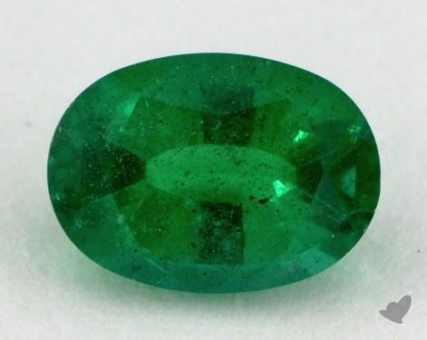 <b>0.81</b> carat Oval Natural Green Emerald