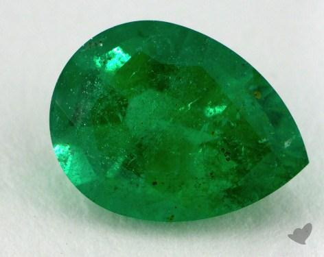 <b>1.53</b> carat Pear Natural Green Emerald