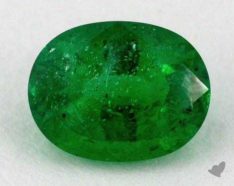<b>1.56</b> carat Oval Natural Green Emerald