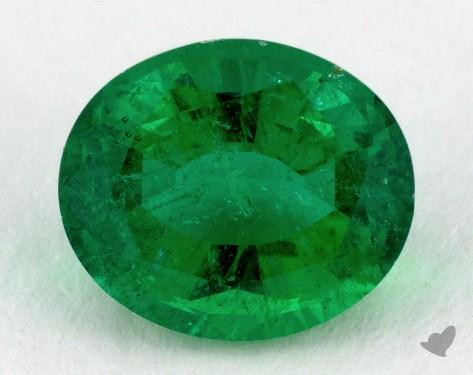 <b>2.70</b> carat Oval Natural Green Emerald