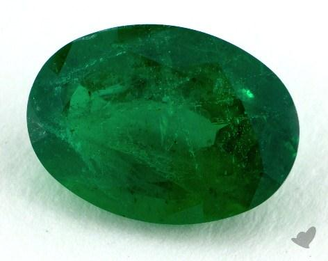 <b>3.07</b> carat Oval Natural Green Emerald