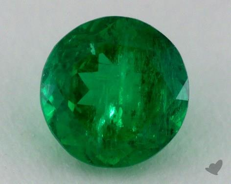 <b>0.80</b> carat Round Natural Green Emerald