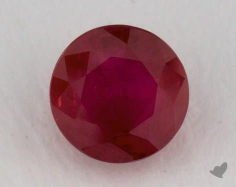 <b>1.22</b> carat Round Natural Ruby