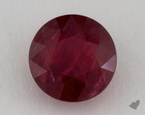 <b>2.45</b> carat Round Natural Ruby