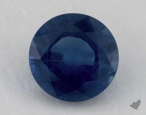 <b>1.36</b> carat Round Natural Blue Sapphire