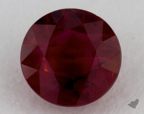 <b>1.05</b> carat Round Natural Ruby