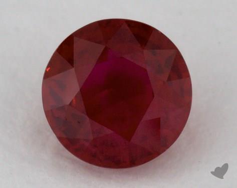 <b>1.06</b> carat Round Natural Ruby
