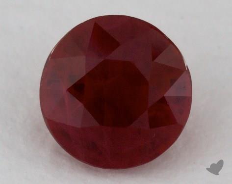 <b>1.27</b> carat Round Natural Ruby