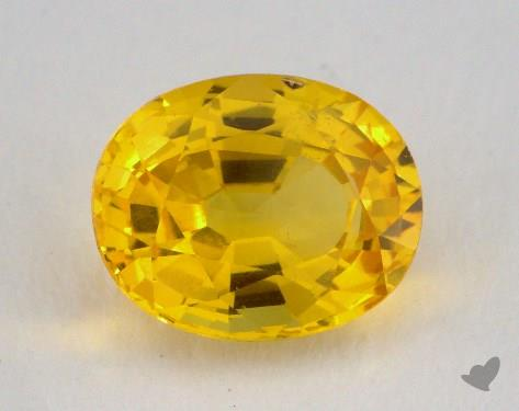 <b>2.15</b> carat Oval Natural Yellow Sapphire