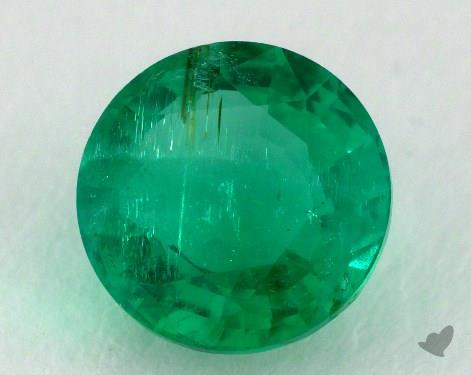 <b>1.49</b> carat Round Natural Green Emerald