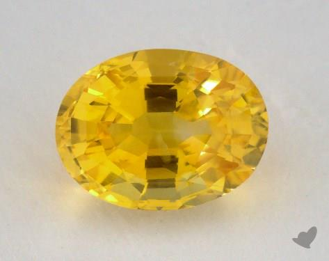 <b>2.17</b> carat Oval Natural Yellow Sapphire