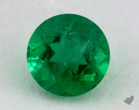 <b>1.02</b> carat Round Natural Green Emerald