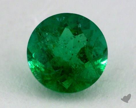 <b>1.14</b> carat Round Natural Green Emerald