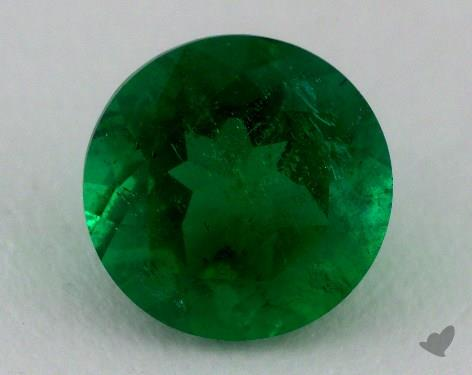 <b>1.43</b> carat Round Natural Green Emerald