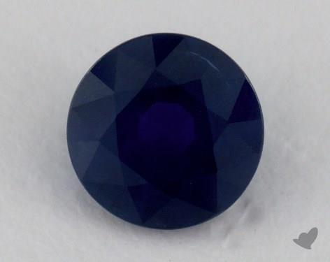 <b>0.87</b> carat Round Natural Blue Sapphire