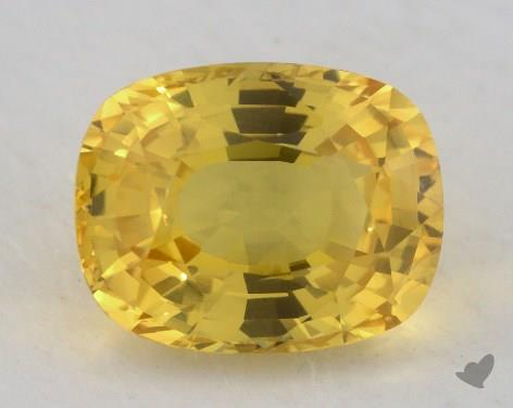 <b>4.72</b> carat Cushion Natural Yellow Sapphire