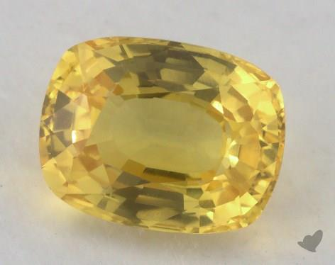 <b>2.79</b> carat Cushion Natural Yellow Sapphire