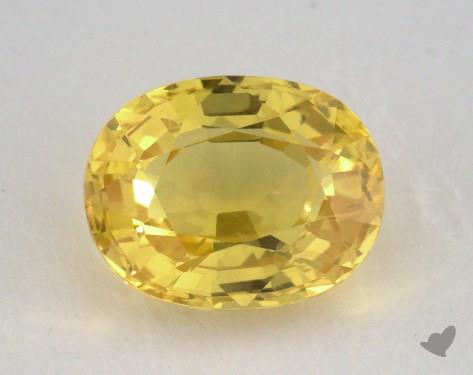 <b>2.21</b> carat Oval Natural Yellow Sapphire